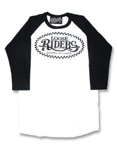 Loose Riders Herren RIDER Raglans.Tattoo,Biker,Oldschool,Rockabilly,Custom Style