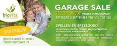 Garagesale en Stockverkoop Biovita  -- Brugge -- 09/09