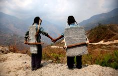 Modern Day Slavery | Fine Art Photography and World Photographer | Lisa Kristine: Brothers Carrying Stone, Nepal