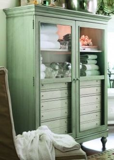 For master bathroom Paula Deen Home The Bag Lady's Cabinet in Spanish Moss USE CODE UNV15