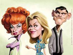 Bewitched Séries TV - JMBorot caricatures et illustrations