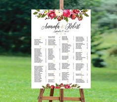 Wedding seating chart | Shop this product here: http://spreesy.com/aquariusds/1 | Shop all of our products at http://spreesy.com/aquariusds | Pinterest selling powered by Spreesy.com