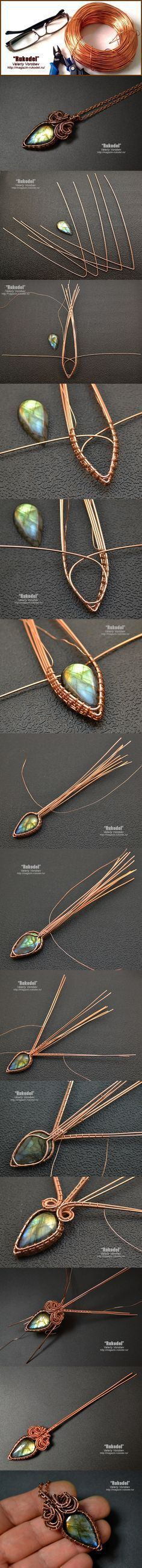 DIY Bijoux  Wire Jewelry Tutorial  pendant wire wrap