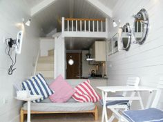 tiny beach hut house - interior Love this for a guest house out the back!