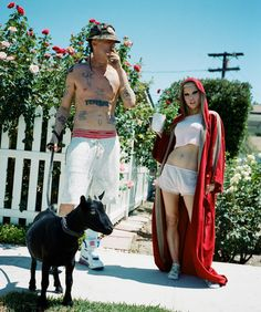 Yo-Landi Visser, Ninja, and their daughter, Sixteen Jones, rock fall styles at their California compound