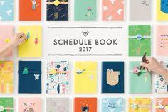AIUEO スケジュールブックB6 2017年1月・4月はじまり かわいい雑貨のことならAIUEO
