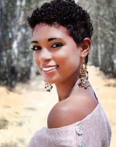 Natural Short Hairstyles For Black Women | Very short curly haircuts for black women