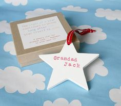 personalised wooden memory star by modo creative | notonthehighstreet.com