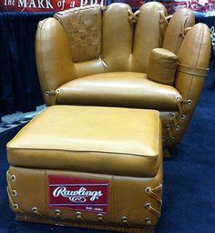 Baseball glove/chair!
