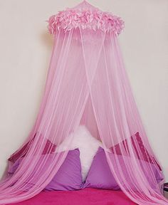~Pink Canopy ~  Mombasa Bedding, Feather Boa Canopy - Bed Canopies - Bed & Bath - Macy's