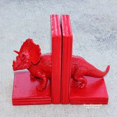 Such a great way to upcycle old toys - these bookends are great!