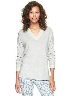 Eversoft varsity sweater   Gap