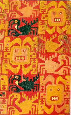 アンデス 約6世紀 汎ワリ・レクァイ文明 外套衣(部分)