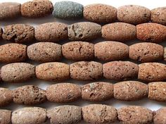Happy Mango Beads - Red Natural Lava Rock Rice Beads 13-14mm (LAV41), $7.50 (http://happymangobeads.com/red-natural-lava-rock-rice-beads-13-14mm-lav41/)