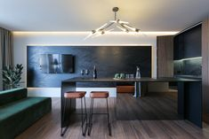 Modern interior in Kyiv. Modern Interior, Interior Design, Home Alone, Deep, Living Room, Behance, Table, Furniture, Room Ideas