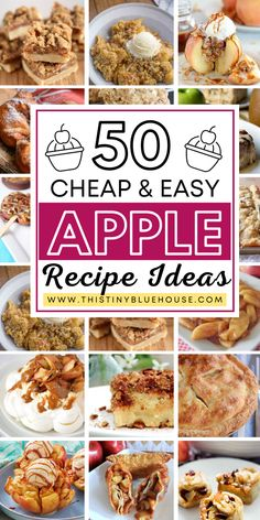Are you looking for delicious fall apple desserts? Here are over 50 best fall apple desserts that are the perfect way to bake with yummy apples. Apple Recipes Easy, Apple Dessert Recipes, Fruit Recipes, Fall Recipes, Sweet Recipes, Recipes Dinner, Bakery Recipes, Cooking Recipes, Lasagna Recipes
