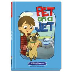 Pet on a Jet - Hardcover book from ABCmouse.com. 4 years & up, 32 pages.  In Pet on a Jet, Bret and his dog, Chet, meet new people and take a trip. This simple and adorable story teaches words in the –et word family. Young readers will also gain valuable practice reading important sight words such as go, his, and does. With child-friendly text accompanied by full-color illustrations, this book from ABCmouse.com belongs on every beginning reader's list.