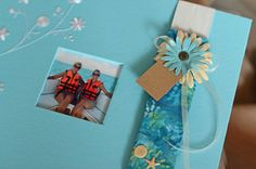Yes, my dear, chickens CAN fly! Me and my bestie defied gravity (and our fear of heights) by parasailing in Mexico in 2010. What better way to dress up our Mexico scrapbook with a beach-themed ScrapBand!?!