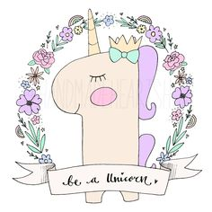 Our Lilly Unicorn is now available as a New Print!Available printed on 250gsm A4 Card with free shipping or sent via email as a PDF printable file.Please choose from the options below.