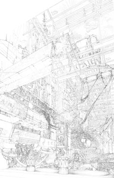 Image 74 of 81 from gallery of 2014 RIBA President's Medals Winners Announced. Sergeant Award (Part Two Student): Adam Bell (University of Greenwich). Architecture Graphics, Architecture Drawings, Drawing Sketches, Art Drawings, Sketching, Background Drawing, Sketch Inspiration, Beautiful Drawings, Graphic Design Illustration