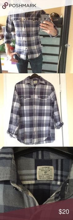 J. Crew Flannel Shirt 100% Cotton J.Crew Flannel shirt in size X-Small (fits more like a slim Small). Great condition....very lightly used with no stains, holes, or tears. J. Crew Shirts Casual Button Down Shirts
