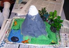 Have the class create a paper mache volcano for a science lesson!