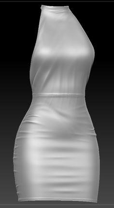 Marvelous Designer > Blender > Zbrush Zbrush, 3d Design, One Shoulder Wedding Dress, Doodle, Wedding Dresses, Fashion, Scribble, Bride Dresses, Moda