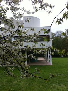Spring time in the Ville Savoye, Le Corbusier ...