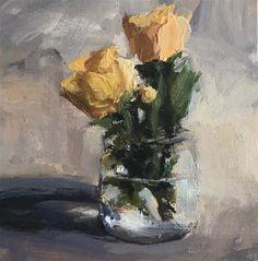 "Daily Paintworks - ""A Little Visit"" - Original Fine Art for Sale - © Shannon Bauer"