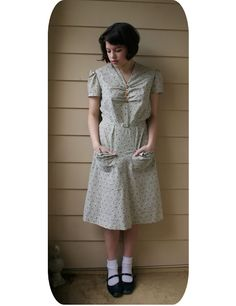The Farm Dress -- great blog post on farm dresses in general. This dress uses vintage pattern: Du Barry 1919B