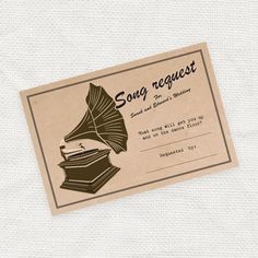 vintage weddings DO IT YOURSELF vintage song request card - printable file - i do it yourself Wedding Songs, Wedding Hats, Hotel Wedding, Diy Wedding, Wedding Ideas, Dream Wedding, Spring Wedding, Wedding Venues, Wedding Decorations