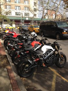 Brammo Empulse electric motorcycles in NYC.