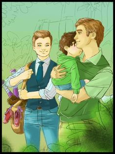 Daddies!Klaine at the park! By this-is-chris-colfers-world