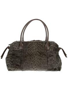 BRUNELLO CUCINELLI - furry tote bag 7 . dark green . http://www.farfetch.com/shopping/women/brunello-cucinelli-furry-tote-bag-item-10528598.aspx