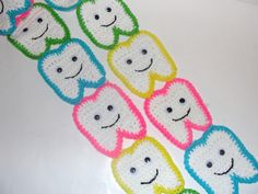 PDF Crochet Pattern for Sweet Tooth Scarf. $5.00, via Etsy.