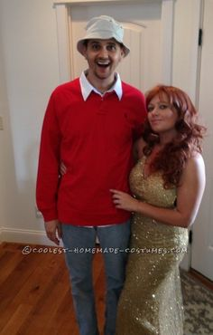Great DIY Couple Costume Idea: Gilligan and Ginger from Gilligan's Island. I'd rather be Mary Anne then Ginger Two Person Costumes, Funny Couple Costumes, Diy Couples Costumes, Couple Halloween Costumes, Couples Cosplay, Holiday Costumes, Halloween Outfits, Hallowen Costume, Halloween Kostüm