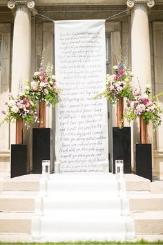 Use your vows as a ceremony backdrop.