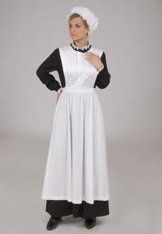 Agatha Downton Abbey Styled Maid's Uniform - Historical Dresses Downton Abbey Costumes, Downton Abbey Fashion, Maid Outfit, Maid Dress, Victorian Maid, Victorian Party, Civil War Fashion, Maid Uniform, White Apron