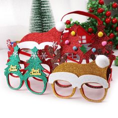 Christmas Decorations For Home Decor New Year Glasses Gifts For Children Santa Claus Deer Snowman Christmas Ornaments Random Christmas Glasses, Top Christmas Gifts, Christmas And New Year, Snowman Christmas Decorations, Christmas Snowman, Holiday Decor, Christmas Accessories, Frame Crafts, Xmas Presents