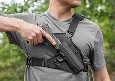 Glock 17 Holsters - Ranging from standard IWB and OWB to Appendix, Backpack and MOLLE with many more to come, these holsters are built right here in the USA to match the durability of your weapon. All Alien Gear Holsters come with a Lifetime Warranty. 1911 Holster, Pistol Holster, Leather Holster, Drop Leg Holster, Concealed Carry Holsters, Chest Rig, Tactical Gear, Tactical Holster, Cool Gear