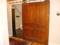 Old pocket doors work on new barn-style slides.