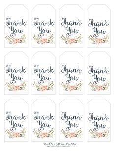 Thank You Printable Tags . 30 Thank You Printable Tags . Kate Thank You Tags Template Diy Floral Thank You Tag Kate Thank You Tag Printable, Thank You Labels, Free Printable Gift Tags, Thank You Tags, Printable Labels, Thank You Gifts, Idee Baby Shower, Baby Shower Tags, Baby Shower Thank You