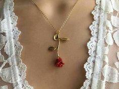 Collar Romántico Rosa