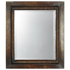 Uttermost Tanika Metal Wall Mirror - 28W x 32H in. - Make an impact in your foyer, living room, or dining area with the Uttermost Tanika Mirror. This high-end mirror is finely crafted with a hand-forged ...