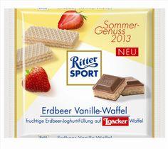 RITTER SPORT Erdbeer Vanille-Waffel (2013)