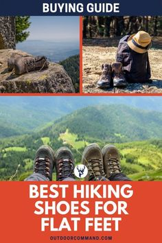 Best Hiking Shoes For Flat Feet. Top-rated footwear to reduce overpronation/fallen arches, and provide superb support to keep you going, all day long! Best Hiking Boots, Hiking Shoes, Hiking Tips, Hiking Gear, Camping Activities, Outdoor Activities, Outdoor Life, Outdoor Gear, Survival Gear List