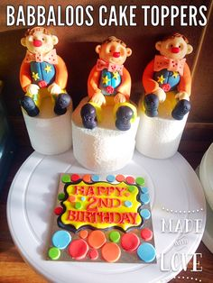 Me tumble cake toppers by Babbaloos