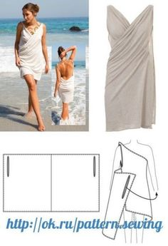 Discover thousands of images about El vestido-transformer Diy Clothing, Sewing Clothes, Barbie Clothes, Dress Sewing Patterns, Clothing Patterns, Fashion Sewing, Diy Fashion, Diy Dress, No Sew Dress