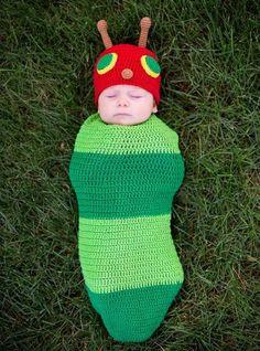 Baby Crochet Cocoon Caterpillar Costume