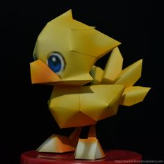 Chocobo Papercraft by Pastel-Leaf - Adorable! Free download at the link